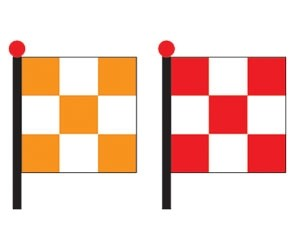 Chequered And Safety Flag2