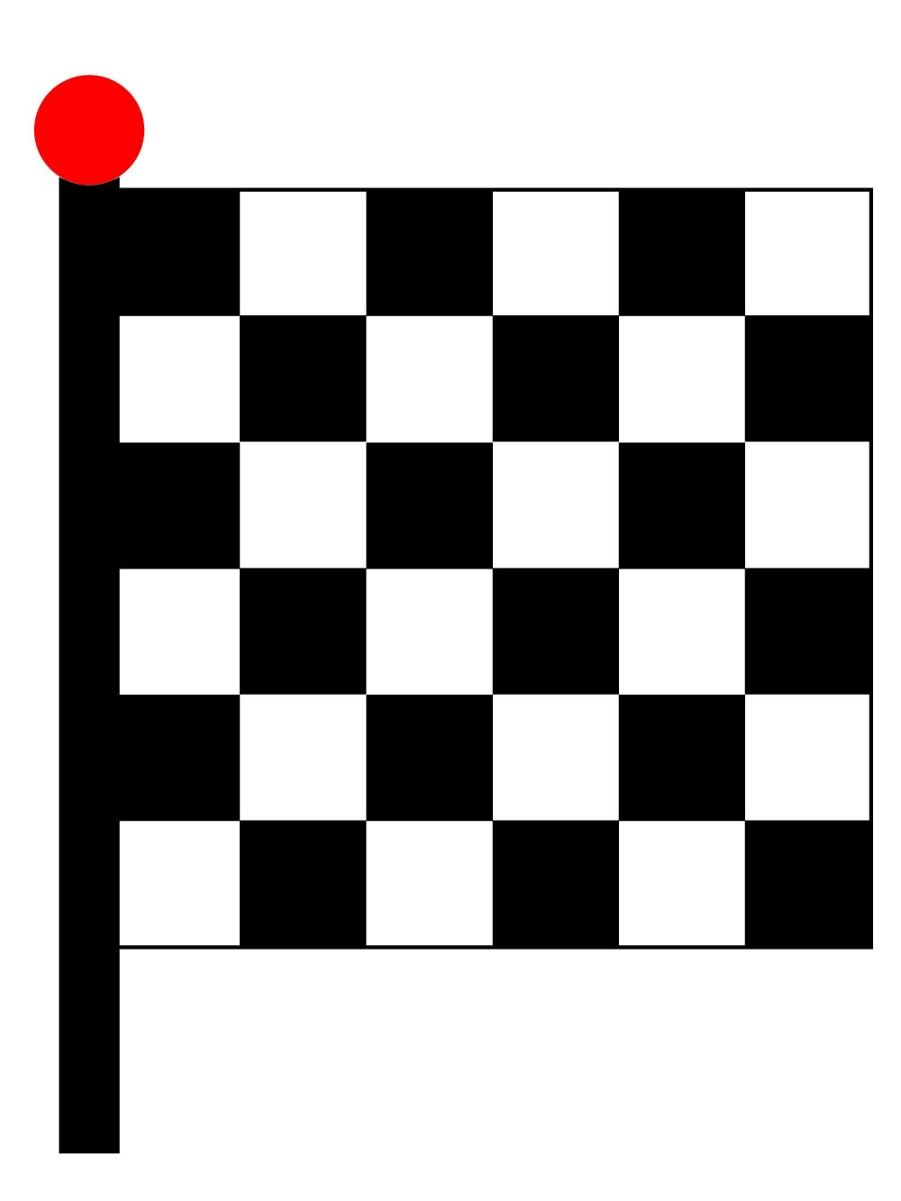 Black & White Chequered Flag